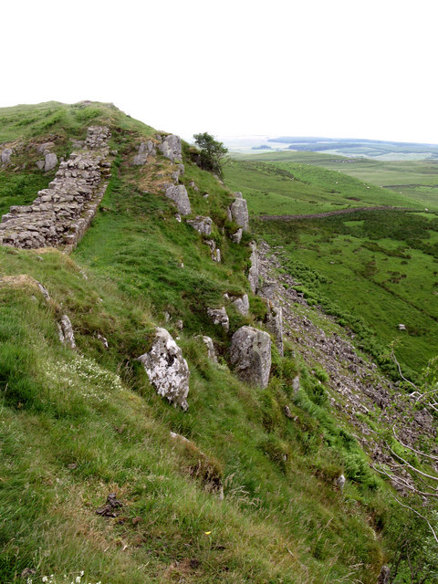 Hadrian's Wall and Sewingshields Crags