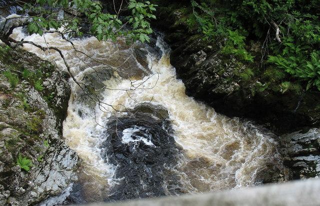 Fierce flow above the bridge