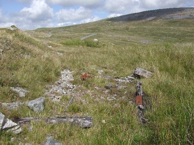 Debris in abandoned quarry