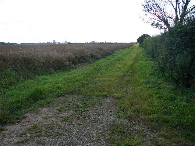 View towards R.A.F. Waddington