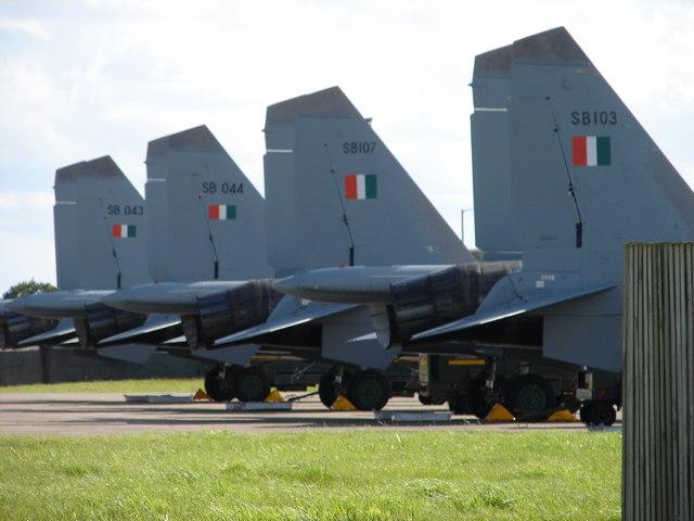 Indian Air force Sukhoi Su-30's at R.A.F. Waddington