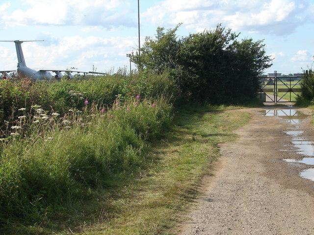 Crash Gate No 5 at R.A.F. Waddington.