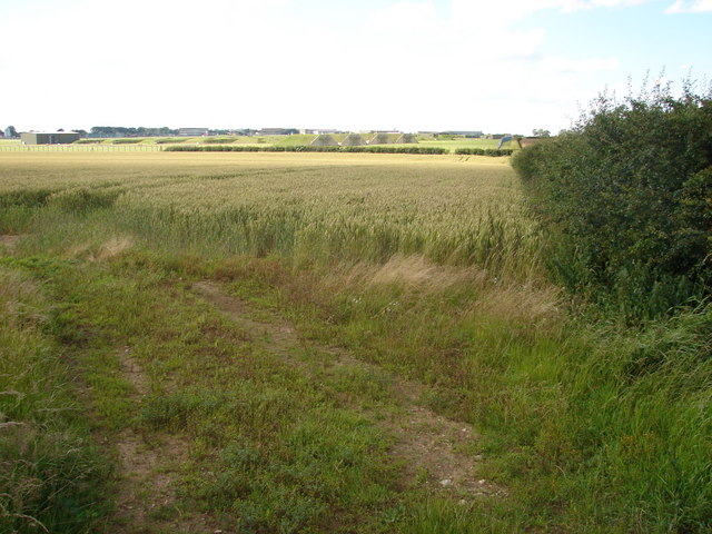 Looking towards R.A.F. Waddington