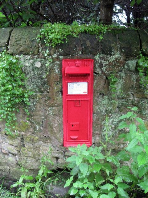 Victorian postbox near Sandhoe Hall