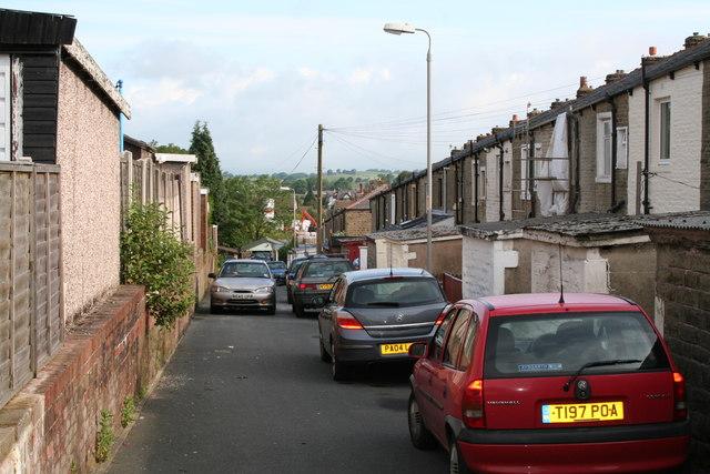 Backs of Coniston Avenue and Rosemount Avenue, Barnoldswick