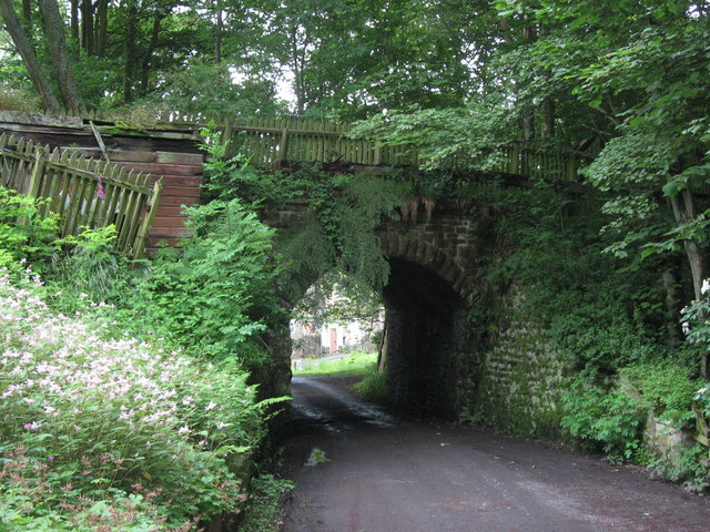 Old railway bridge over the approach road to Langley Garden Station