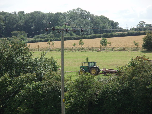 Tractor parked in a field