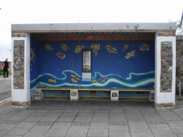 Colourful Bus Shelter.