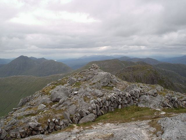 Summit cairn of Garbh Chioch Mhor