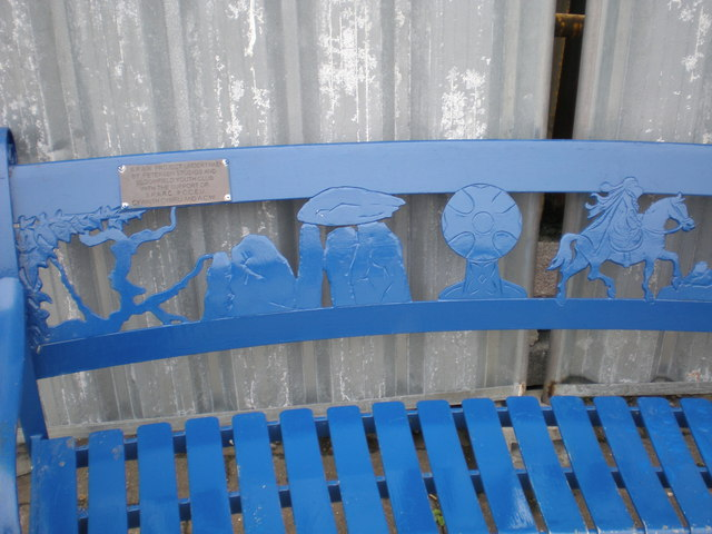 Close up of bench