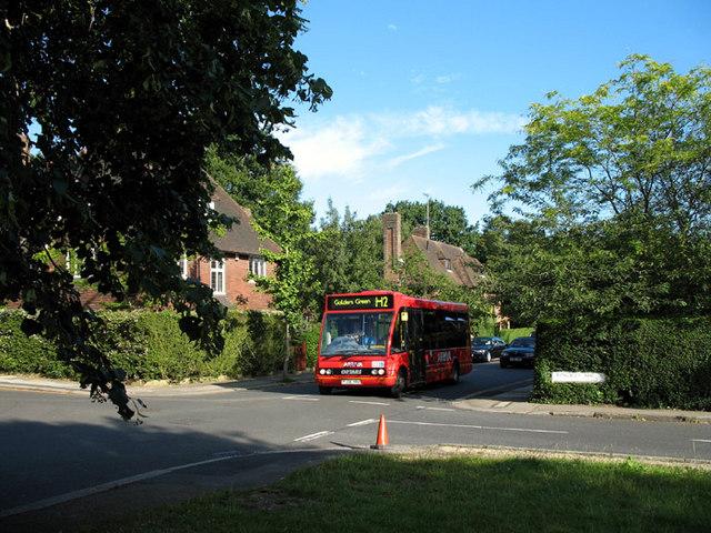 Junction of Wildwood Road and Kingsley Way