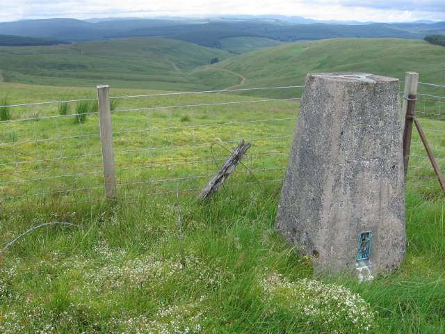 Mosshope Bank trig point S5049