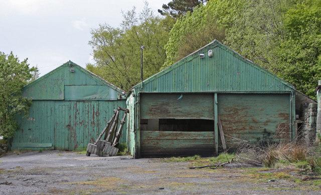Disused wagon depot