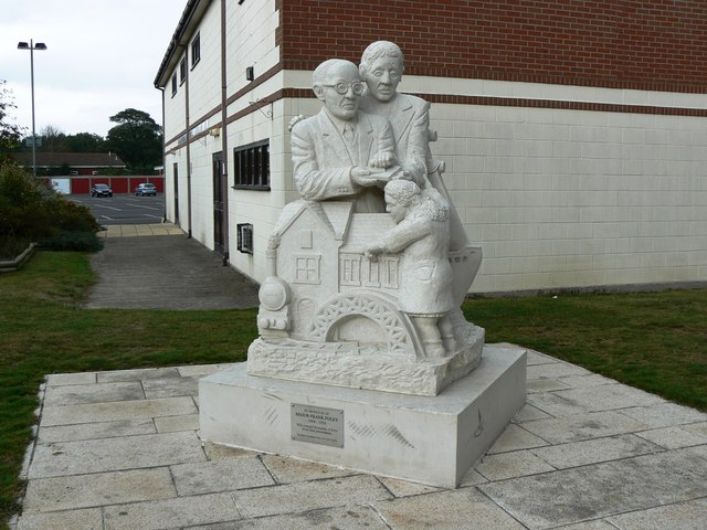 Statue in honour of Major Frank Foley, Market Street, Highbridge
