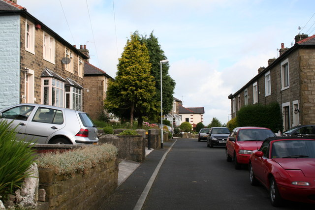 Looking north from the south end of Taylor Street, Barnoldswick