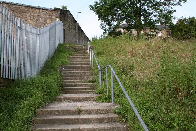 Taylor Street steps, Barnoldswick, Yorkshire