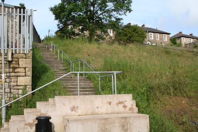 Taylor Street steps and houses, Barnoldswick