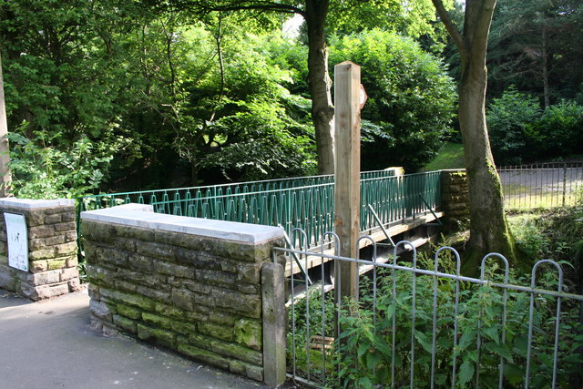 Footbridge across Butts Beck, Barnoldswick