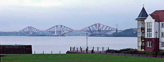 Forth Bridge from St Davids Harbour