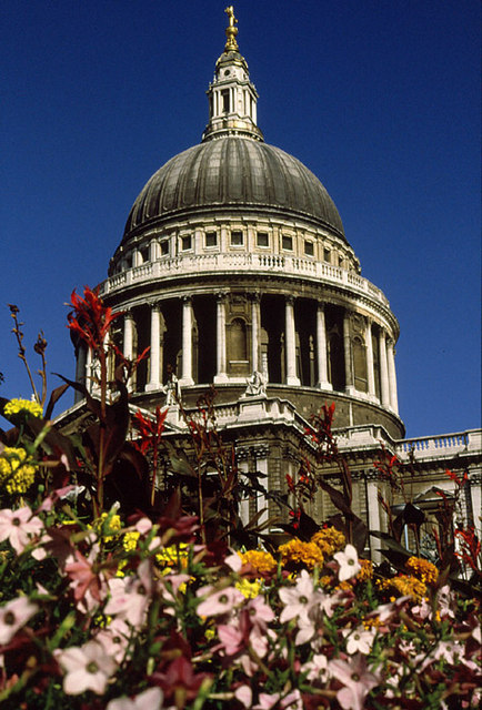 St Paul's and Flowers