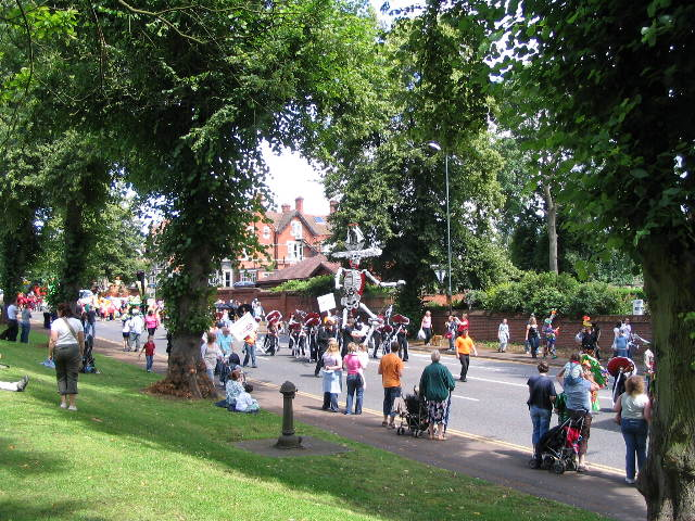 Godiva Carnival Procession passing Top Green