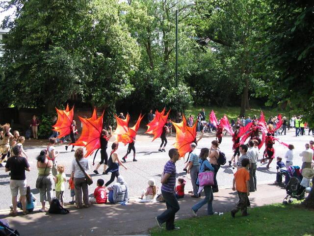 Little devils heading for the Memorial Park