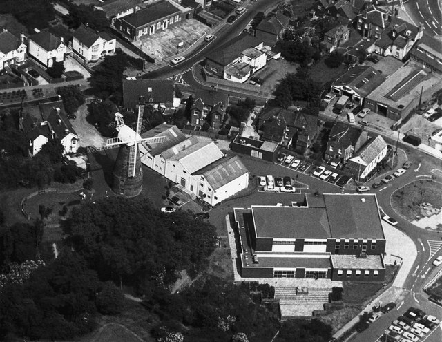 Aerial view of Rayleigh Conservative Club
