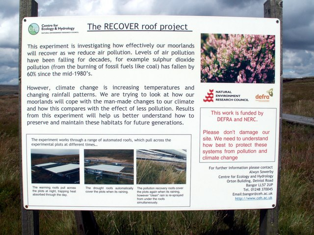 The RECOVER roof project sign