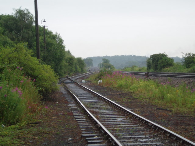 Railway lines towards Scunthorpe