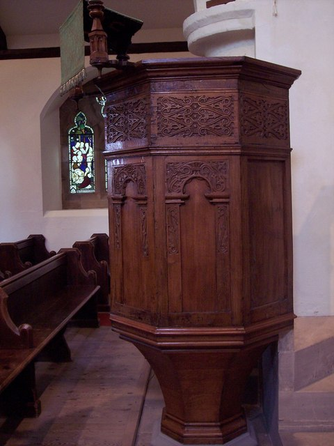 St Matthew's Church, Hutton Buscel - Pulpit