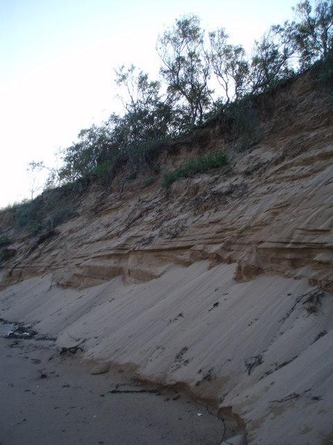 Coastal erosion, Buddon Ness
