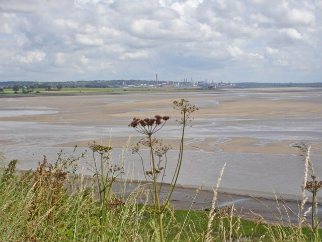 View up the Mersey from the Mersey Way