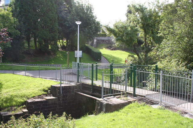 Second footbridge across Butts Beck, Barnoldswick