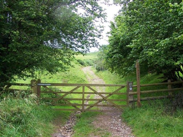 Shropshire Way Near Abdon