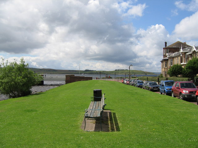 Bench at Gogo Water, Largs