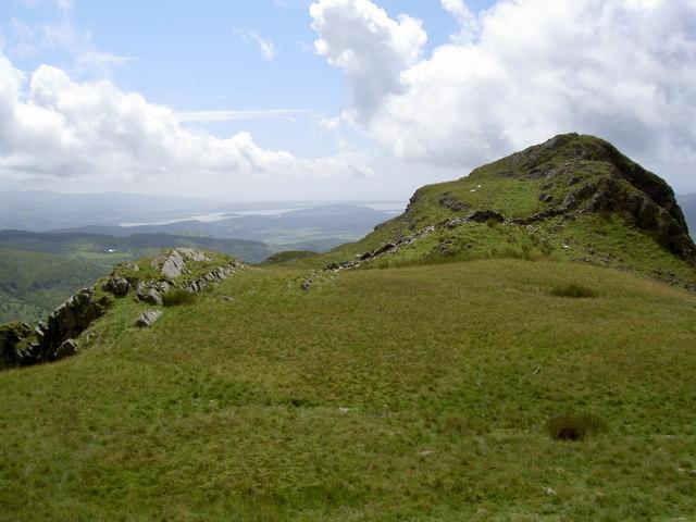 The ridge behind