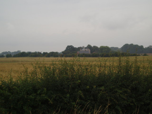 Drain House across the fields