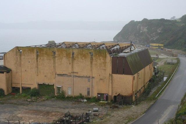 Partly demolished Cornwall Coliseum