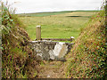 SX0986 : Stone slab stile near Penpethy by John Lucas