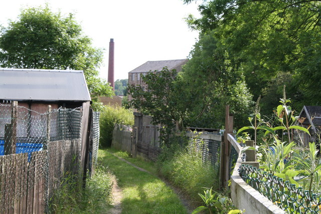 Track into the allotments off Gisburn Road, Barnoldswick