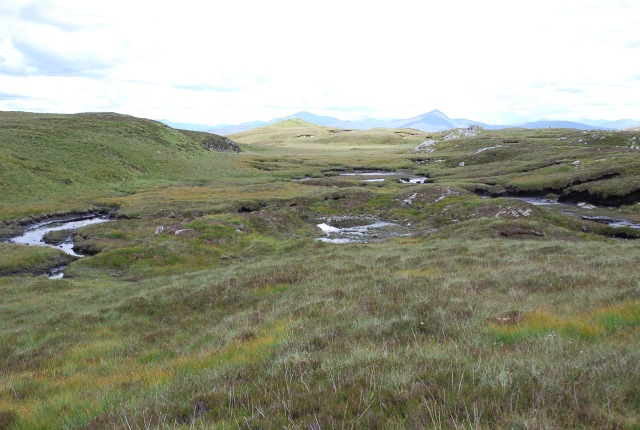 Moorland and peat hags