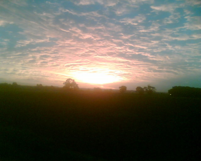 Sunrise over Slate House Farm