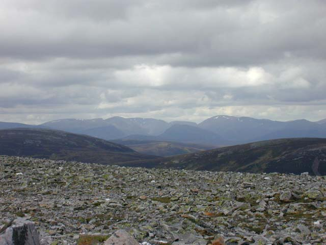 The Cairngorms from An Socach