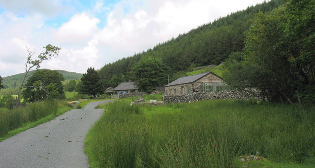 Cottages at the end of the Hafod Fraith road