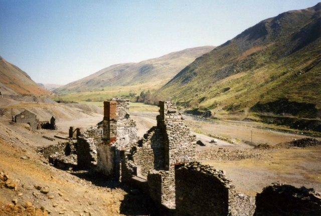Cwmystwyth mine on a sunny June day
