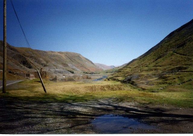 Cwmystwyth looking up the Afon Ystwyth valley