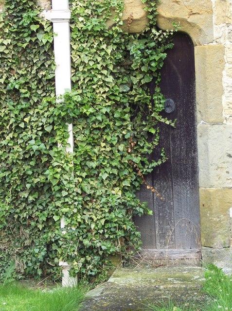 Ivy covered door at St John's Church