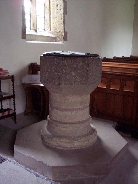 St John's Church, Allerston - Font