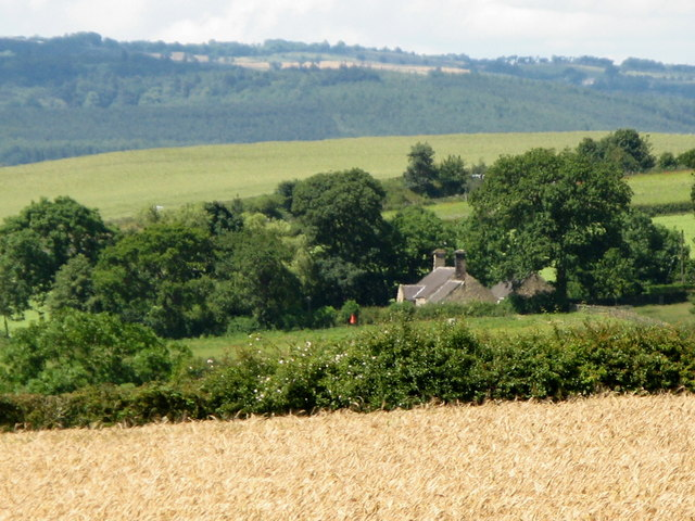 Arable land, woods and Brockbushes Farmhouse