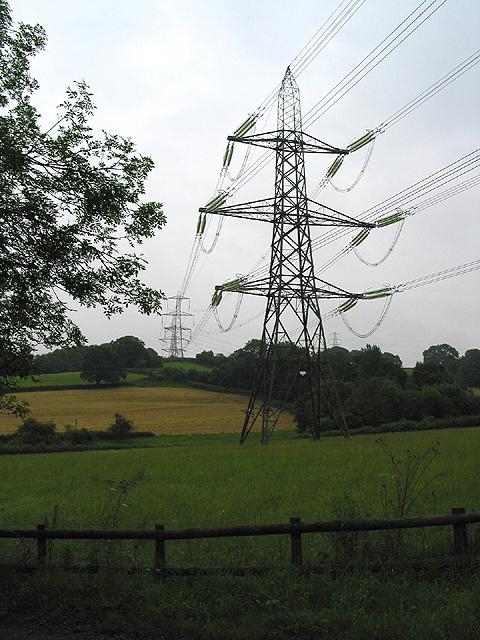 Power lines near Oaks Lane